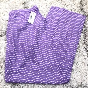 NWT Purple Pajama pants size L